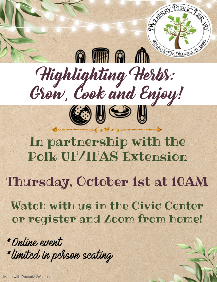 Highlighting Herbs Flyer