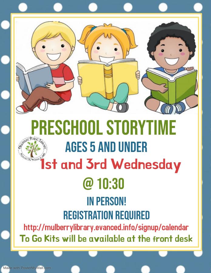 Preschool Storytime Flyer