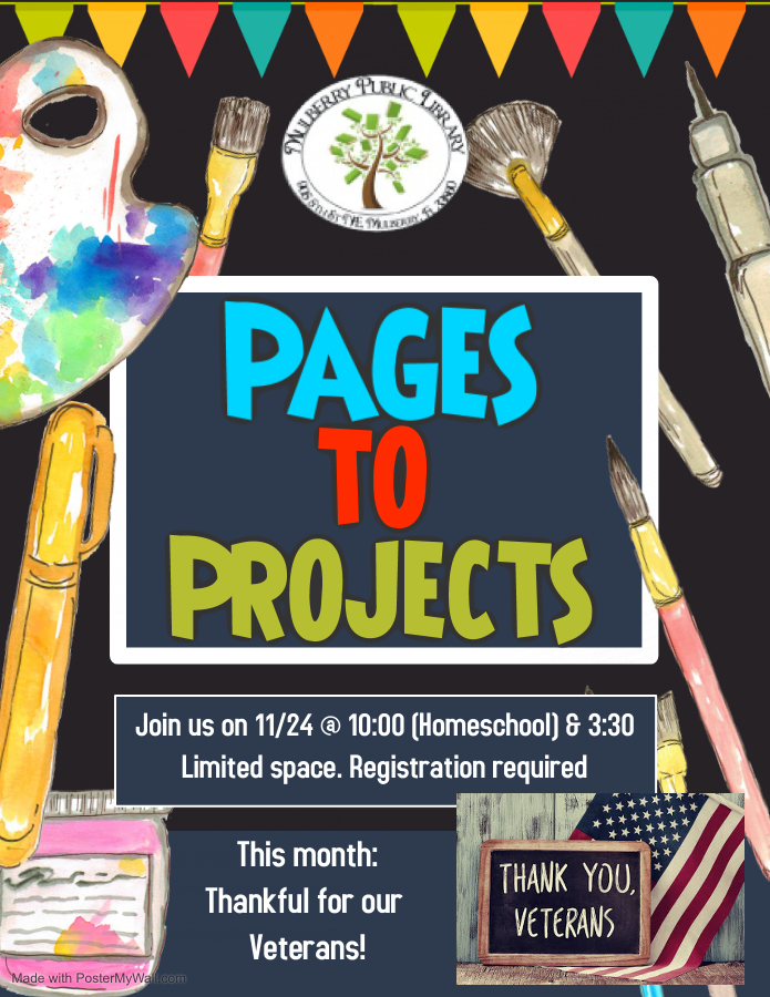 Pages to Projects Flyer