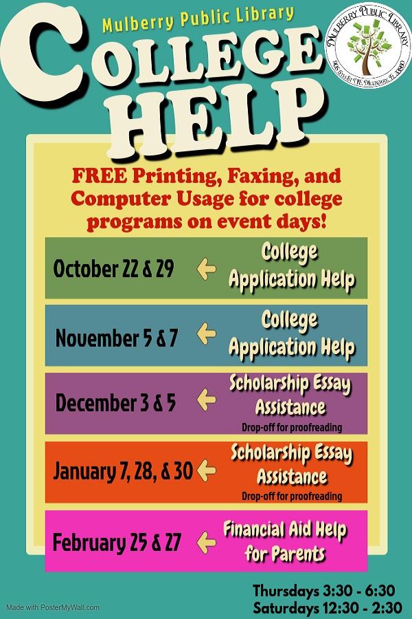 College Help Flyer