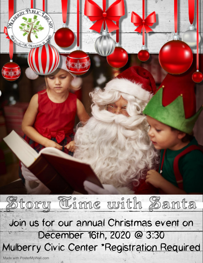 Storytime with Santa flyer