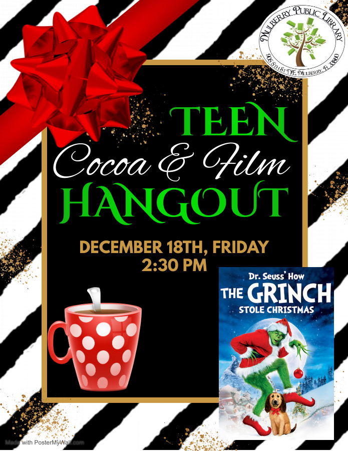 Teen hangout flyer