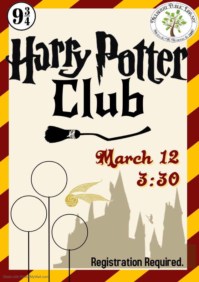 Harry Potter Club Flyer