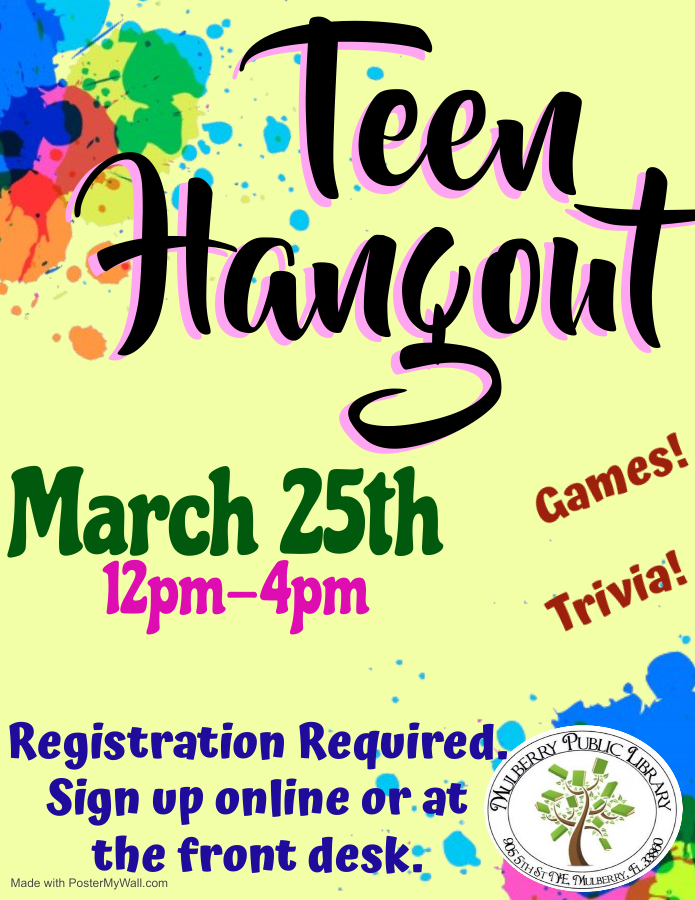 Teen Hangout Flyer