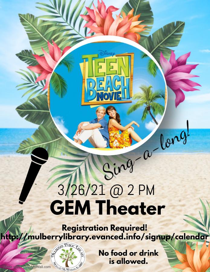 Teen Beach Movie Flyer