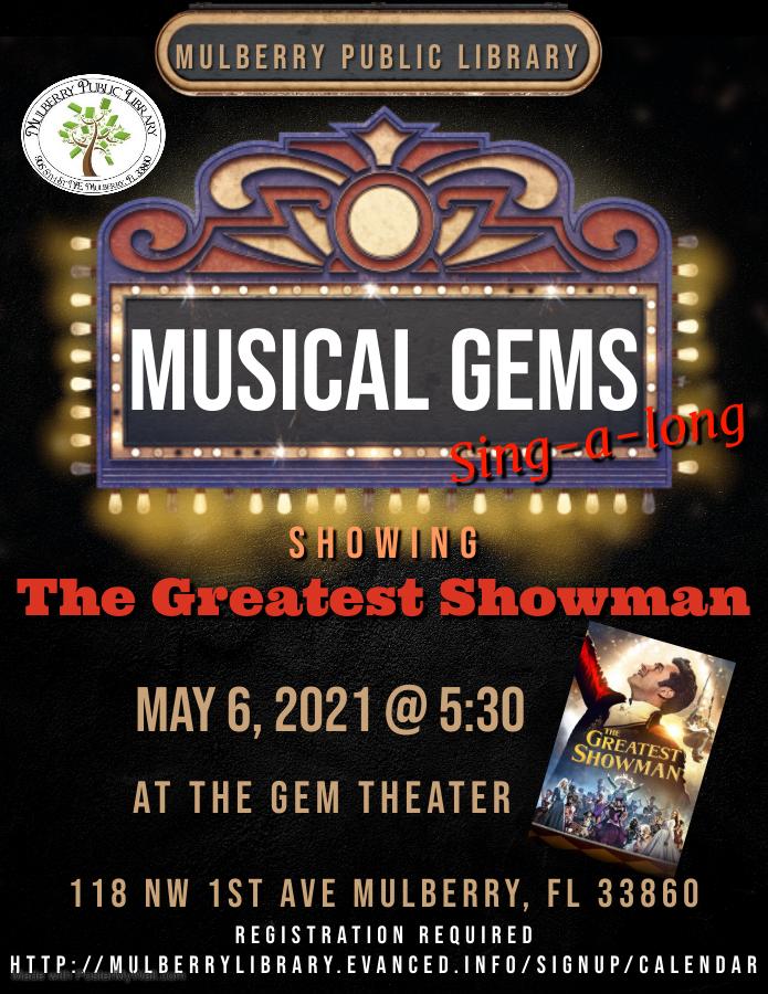 Musical GEMS Flyer