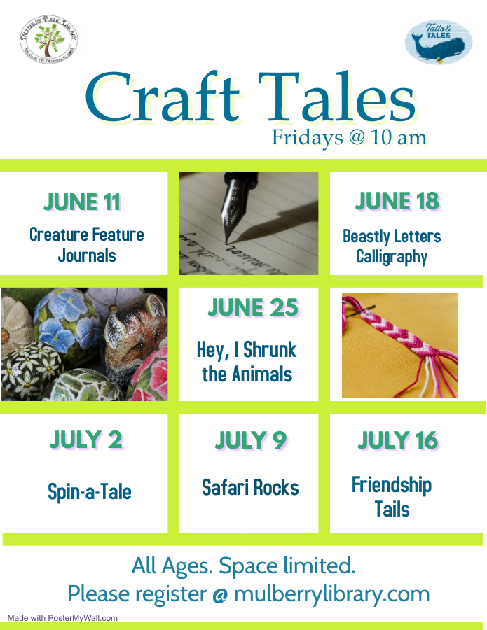 Titles of Friday craft programs