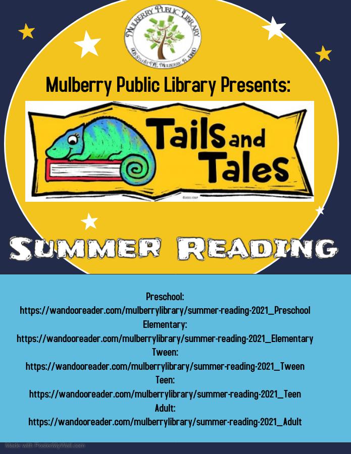 Summer reading flyer