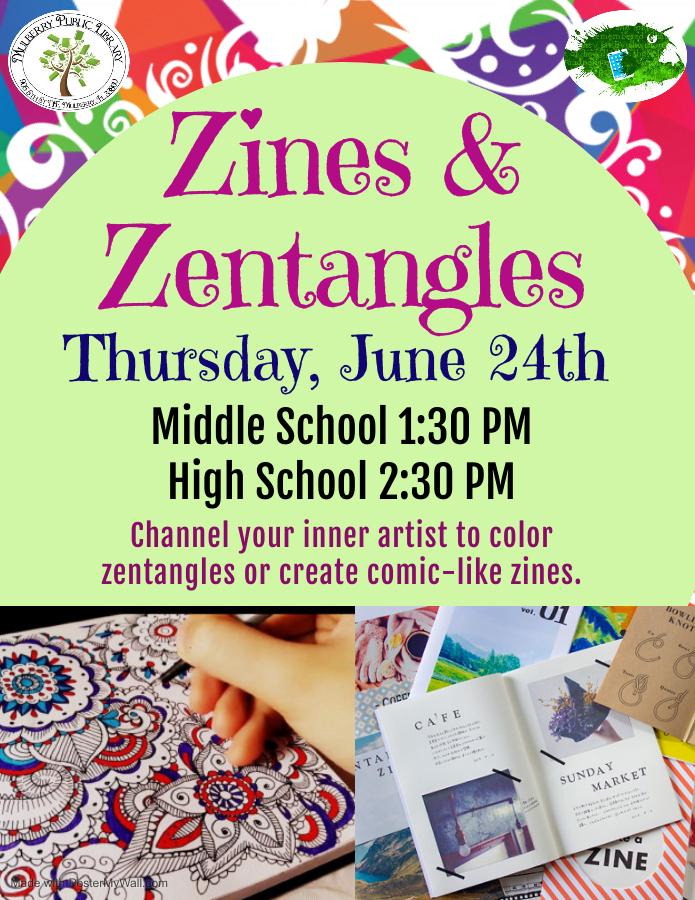 Zentangle and Zines Flyer