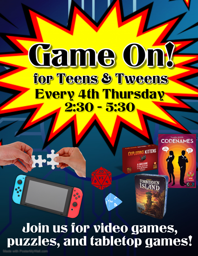 Game on for Teens Flyer